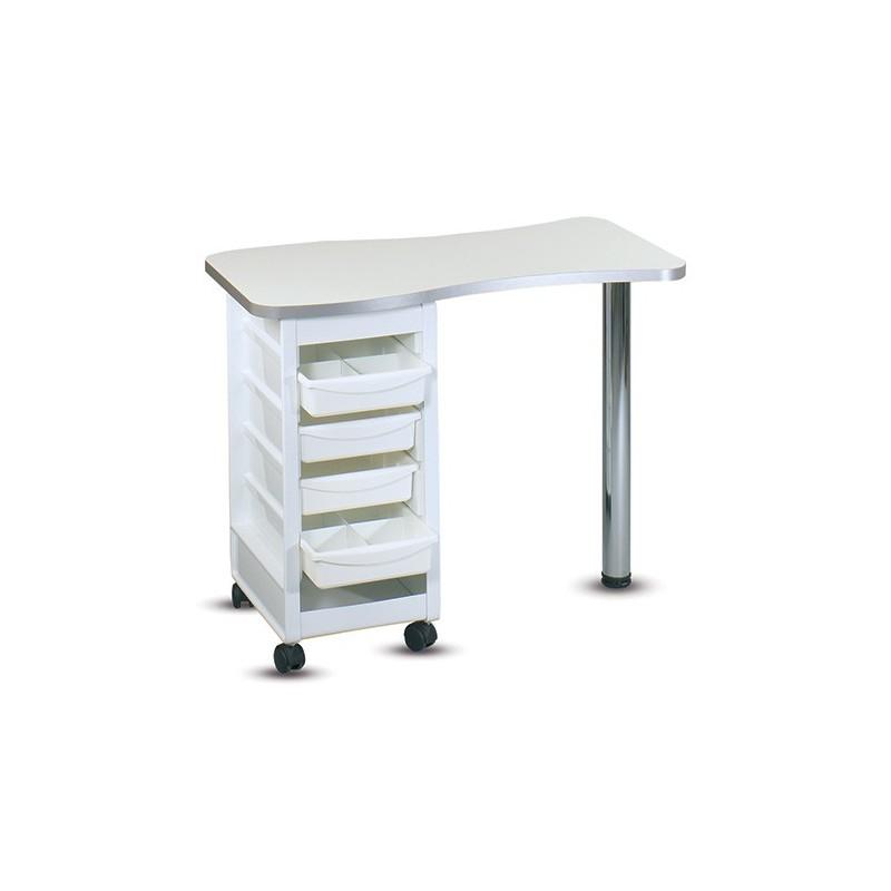 Table manucure simple avec tiroirs sans aspiration