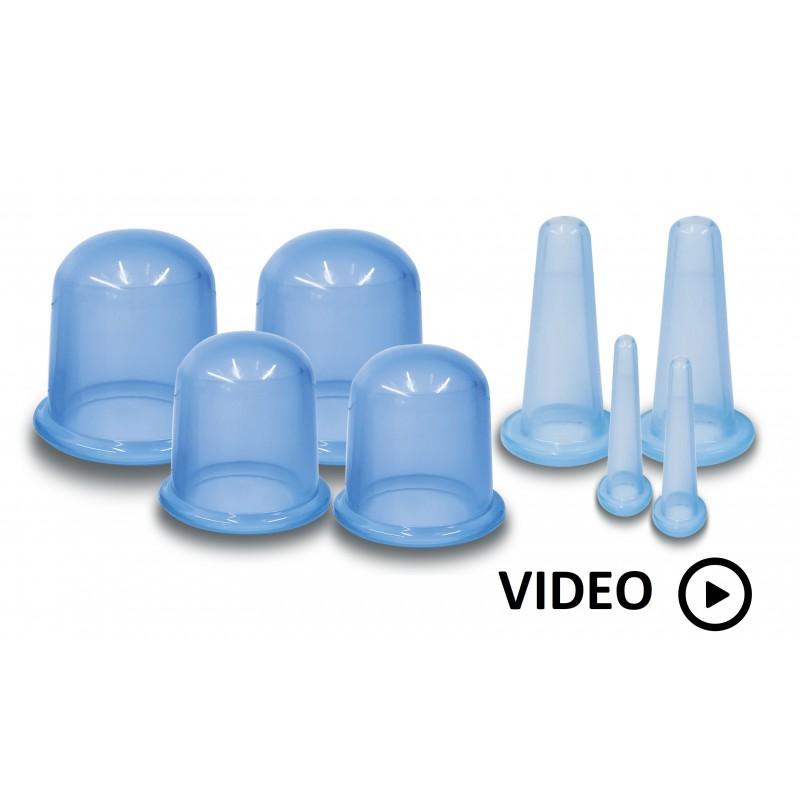 ventouses de massage : kit de 8 pièces