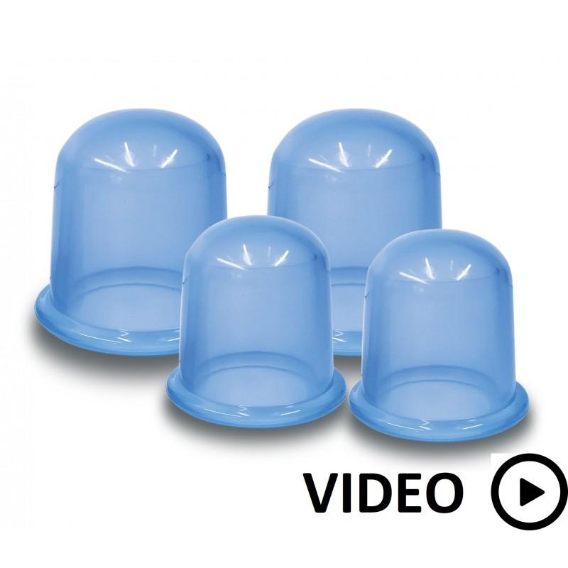 ventouses de massage : kit de 4 pièces pour le corps