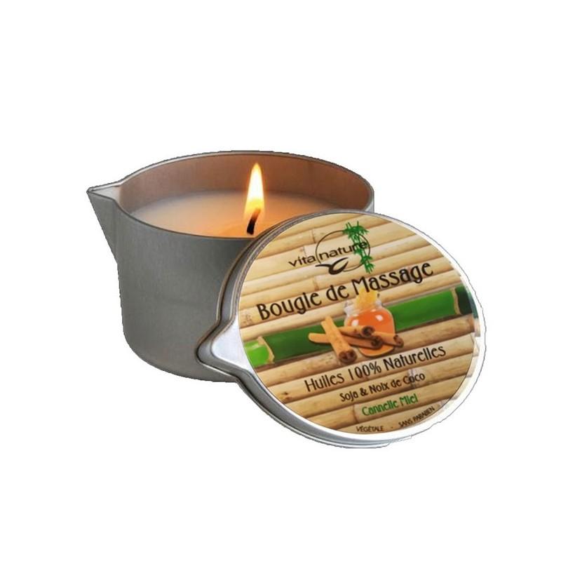 Bougie de Massage 160grs , Senteur Canelle-Miel