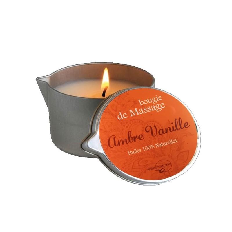 Bougie de Massage 160grs , Senteur Ambre-+Vanille