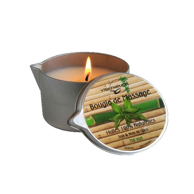 Bougie de Massage 160grs , Senteur Thé-Vert