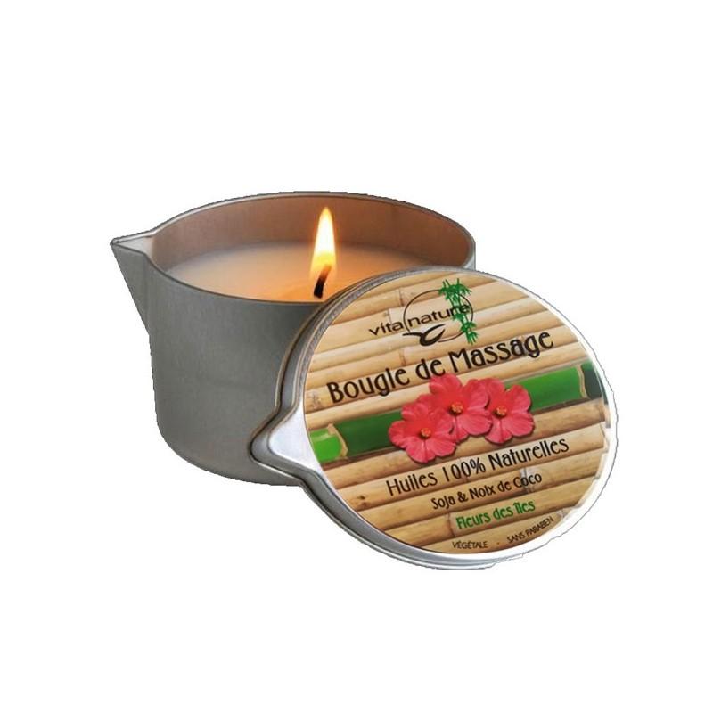 Bougie de Massage 160grs , Senteur Fleurs des îles