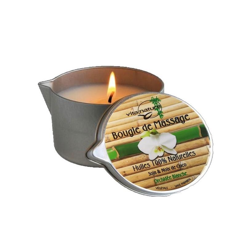 Bougie de Massage 160grs , Senteur orchidée Blanche