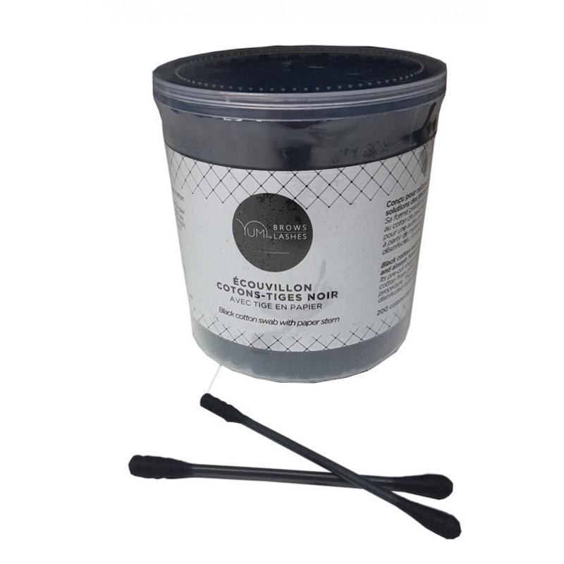 Ecouvillon Coton-Tiges Noir , par 200