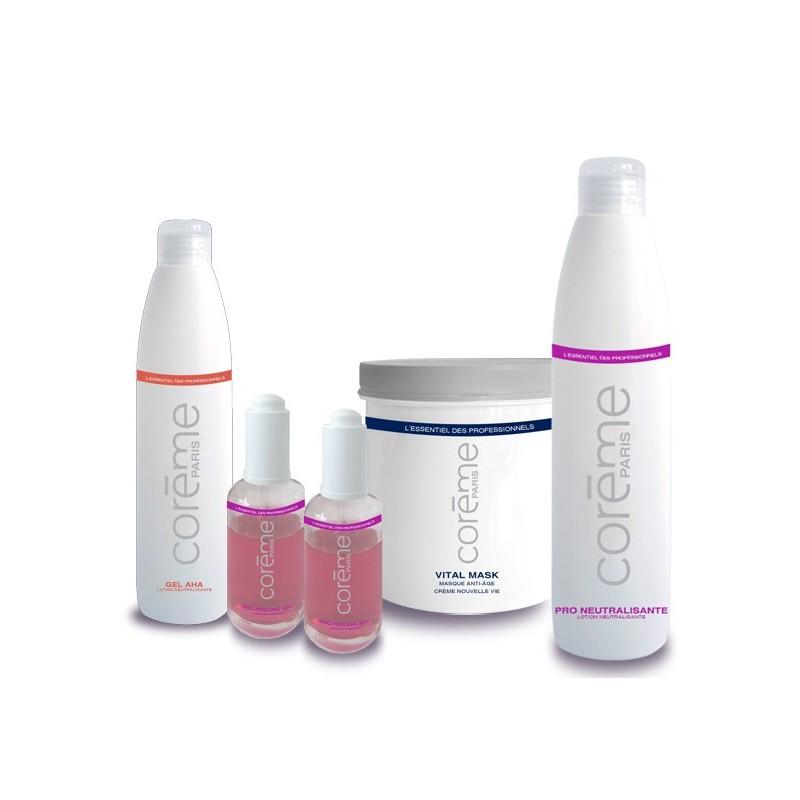 Kit Pro Peeling Acide Glycolique Coreme