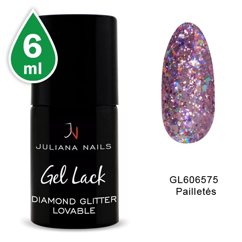 Vernis Semi-Permanent Diamond Glitter Lovable 6 ML