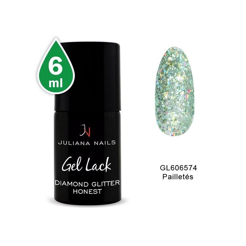 Vernis Semi-Permanent Diamond Glitter Honest 6 ML