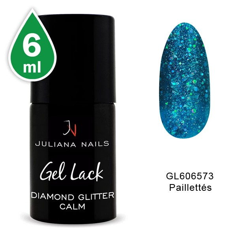 Vernis Semi-Permanent Diamond Glitter Calm 6 ML