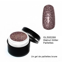 Gel Couleur Walnut Glitter 5 grs