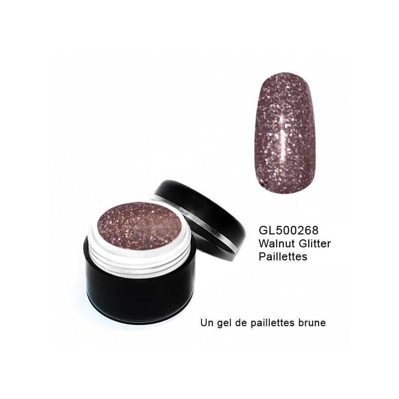 Gel Couleur Walnut Glitter 5 grs