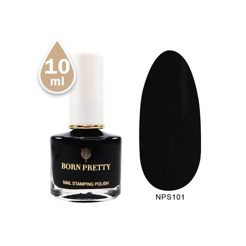 Vernis Stamping Noir 10ml