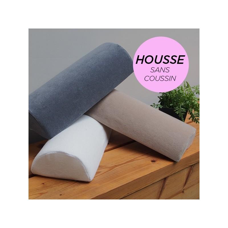 HOUSSE pour Coussin Nuque/Dos/Genou Rose Poudré