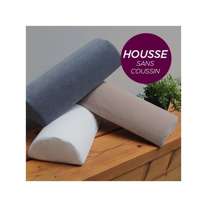 HOUSSE pour Coussin Nuque/Dos/Genou Aubergine