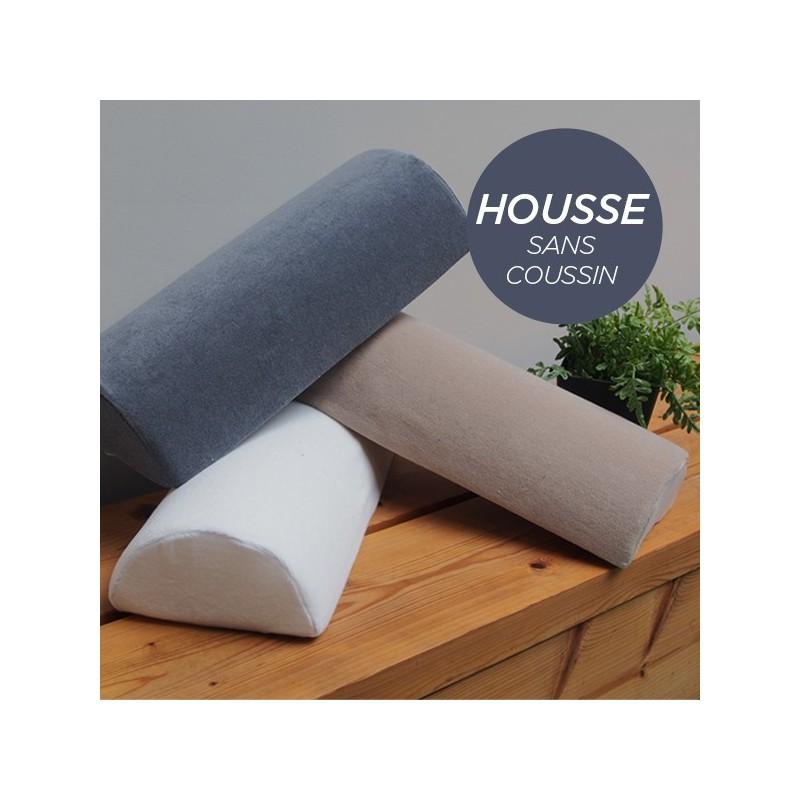 HOUSSE pour Coussin Nuque/Dos/Genou Gris Anthracite