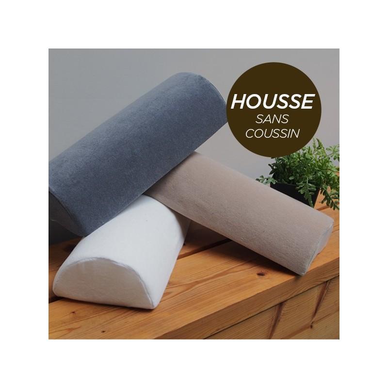 HOUSSE pour Coussin Nuque/Dos/Genou Chocolat