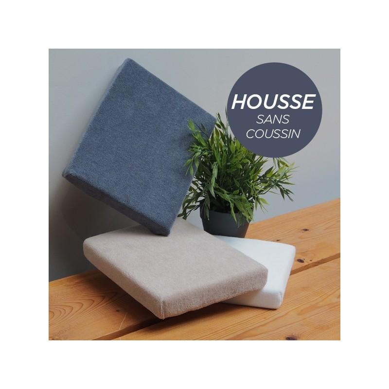 HOUSSE pour Coussin Manucure Plat Gris Anthracite