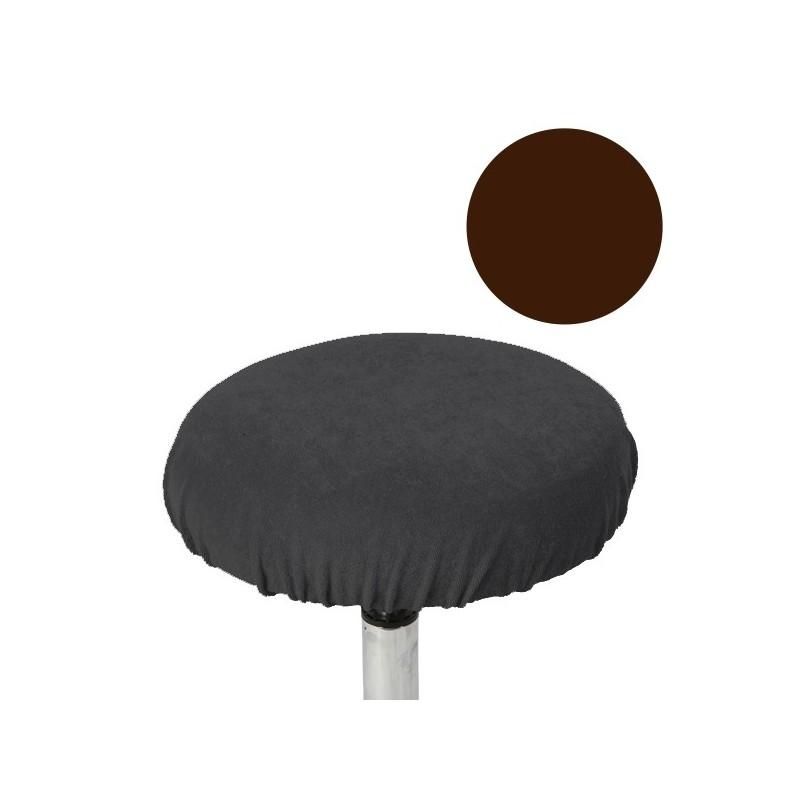 Housse pour Tabouret Plat Chocolat